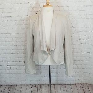 Light khaki open jacket